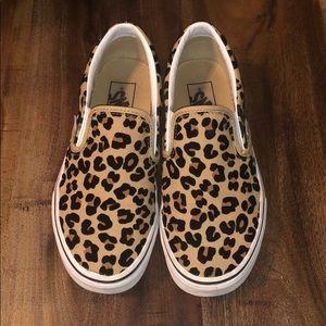 Vans Shoes | Cheetah Print Slip On Vans